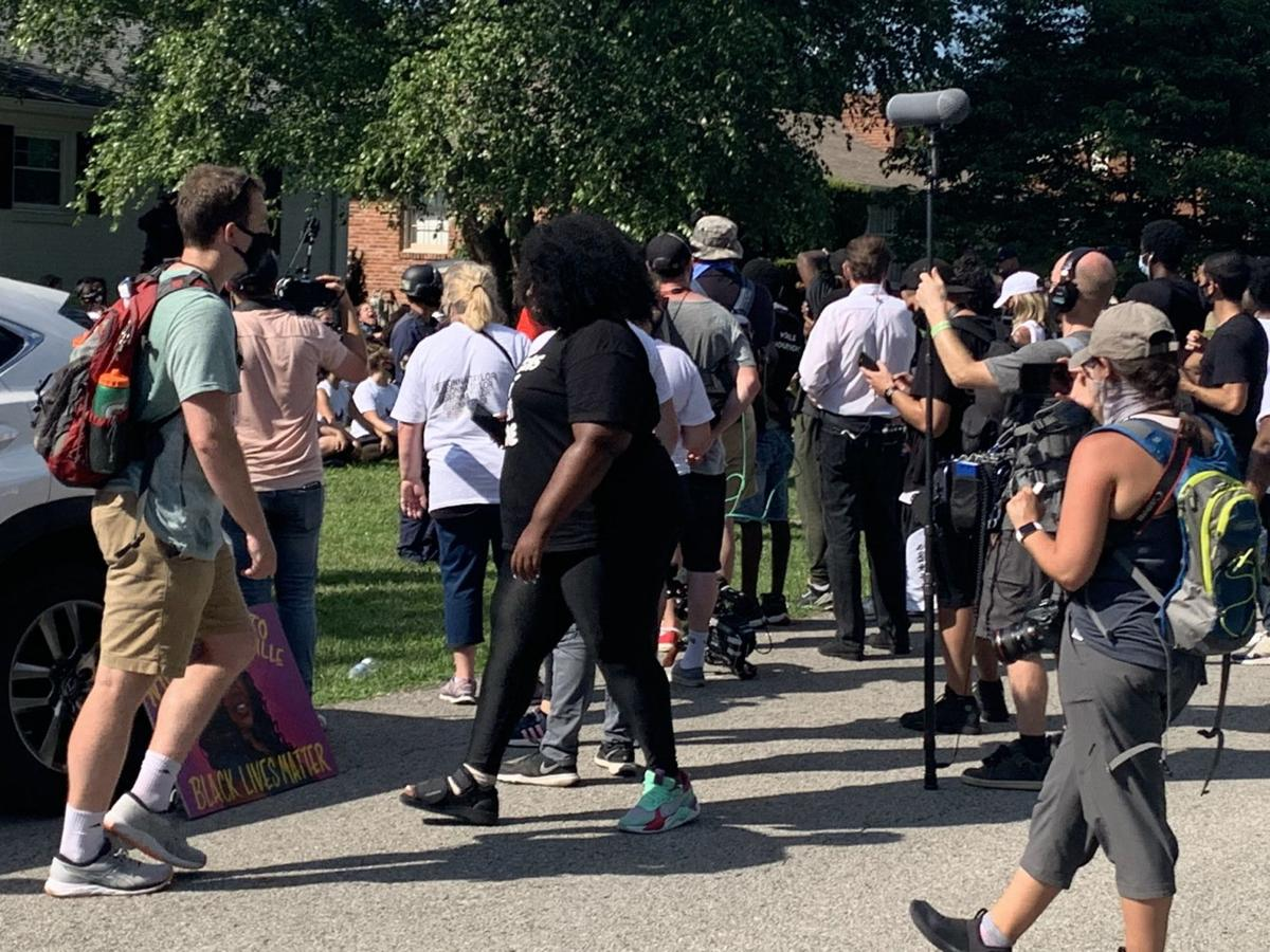 Protesters at Daniel Cameron's house (2) 7-14-20