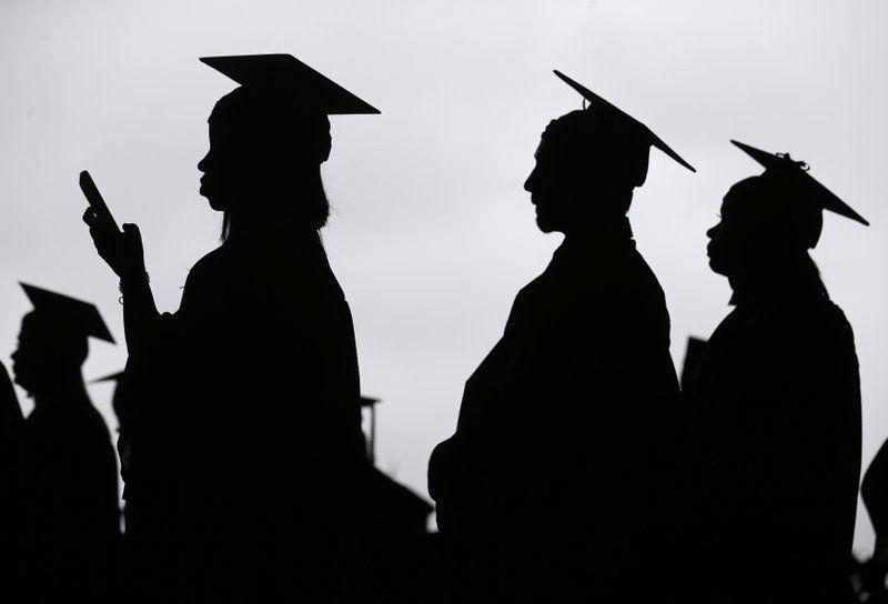 College students generic student loan graduation