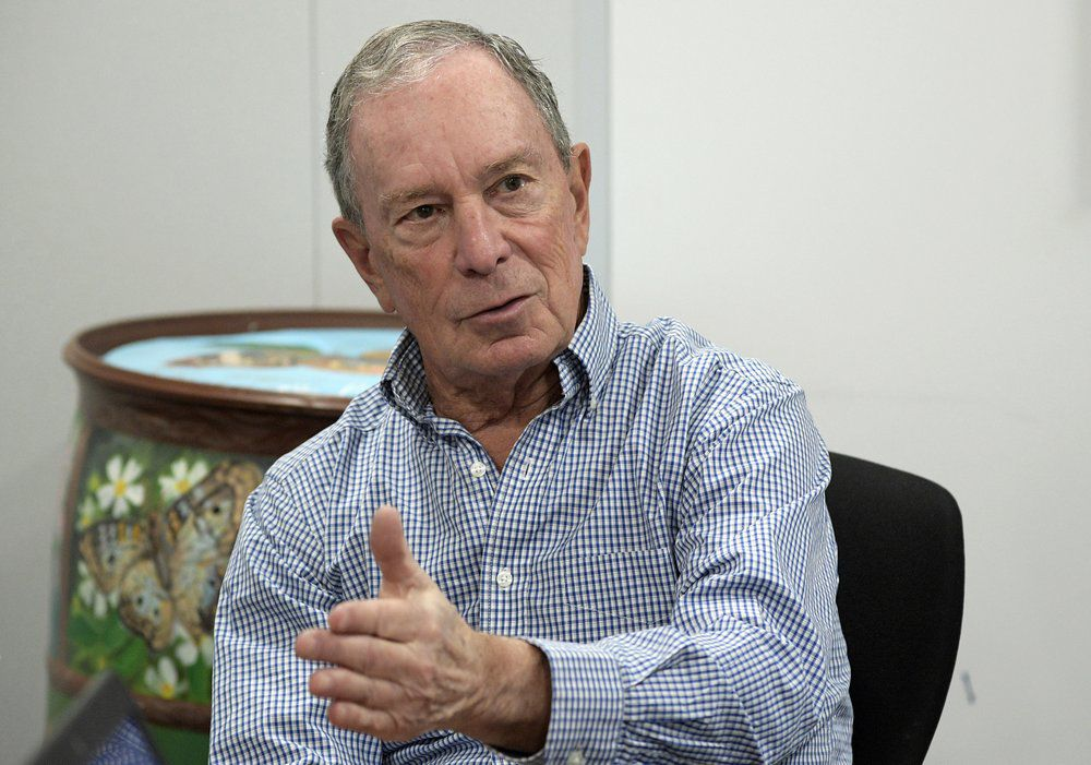 Michael Bloomberg seated