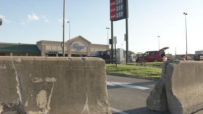 West Louisville Kroger closed-Derby weekend-barriers.jpeg