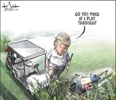 Trump Cartoon  - Canadian cartoonist Michael de Adder
