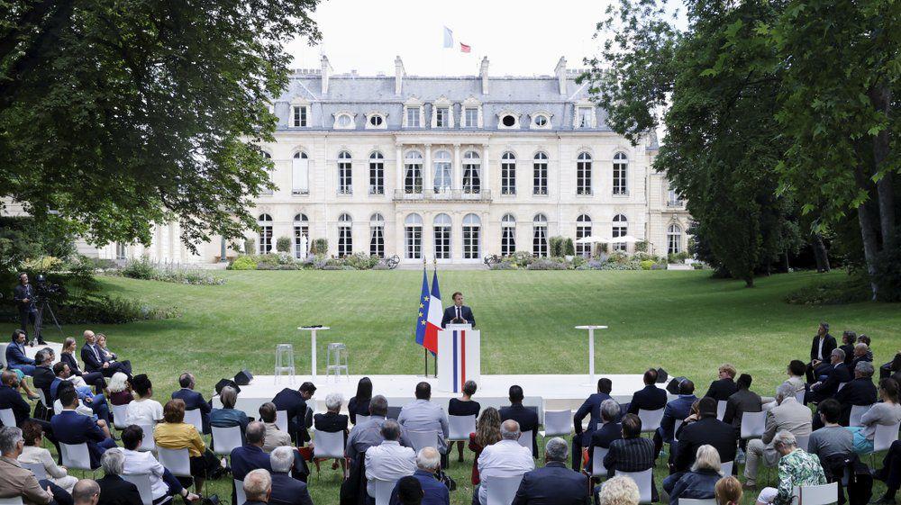 Emmanuel Macron delivers speech