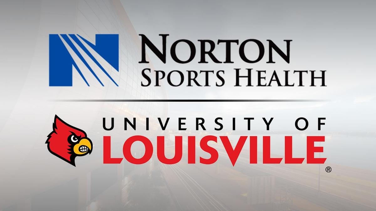 Norton Sports Health and University of Louisville Cardinals logos