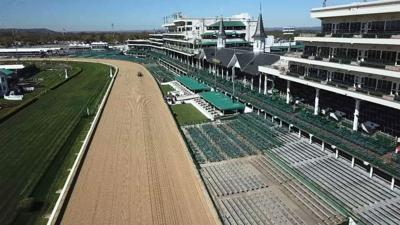 Churchill Downs drone