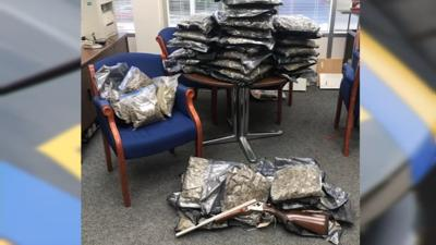 Southern Indiana police agencies uncover drugs, cash and weapons