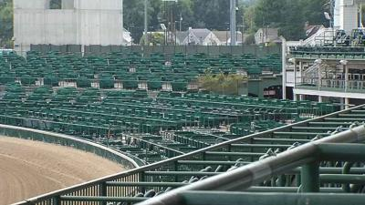 Empty Churchill Downs Stands