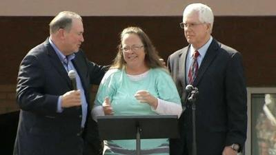 Kim Davis thanks supporters: 'I just want to give God the glory'