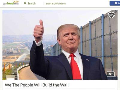GoFund Me border wall image