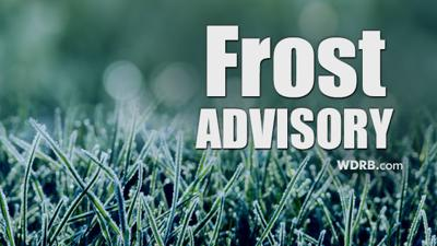 Frost Advisory Issued for Sunday