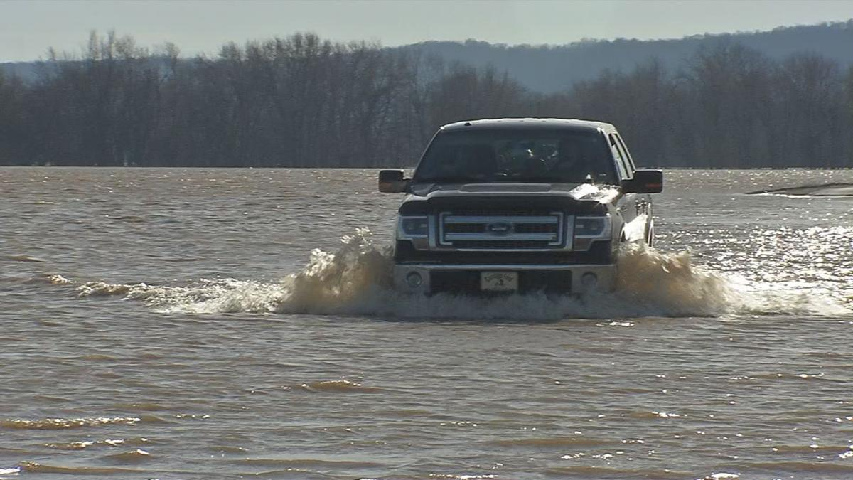 High floodwaters shut down main road leading to Horseshoe Southern Indiana