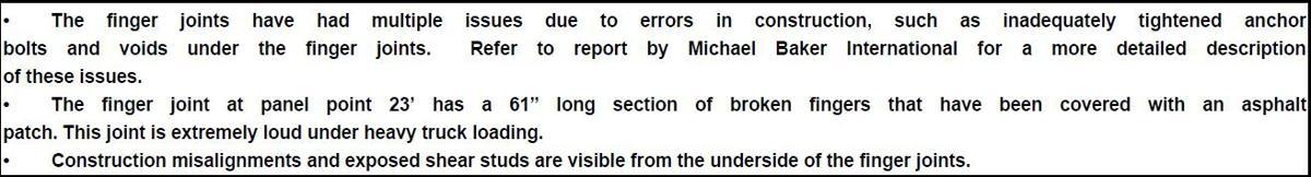 Kennedy Bridge 'errors in construction' excerpt