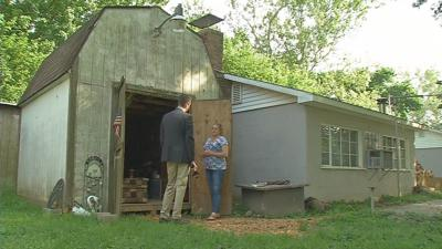 New Albany woman living in a shed says she can't get FEMA assistance after flooding
