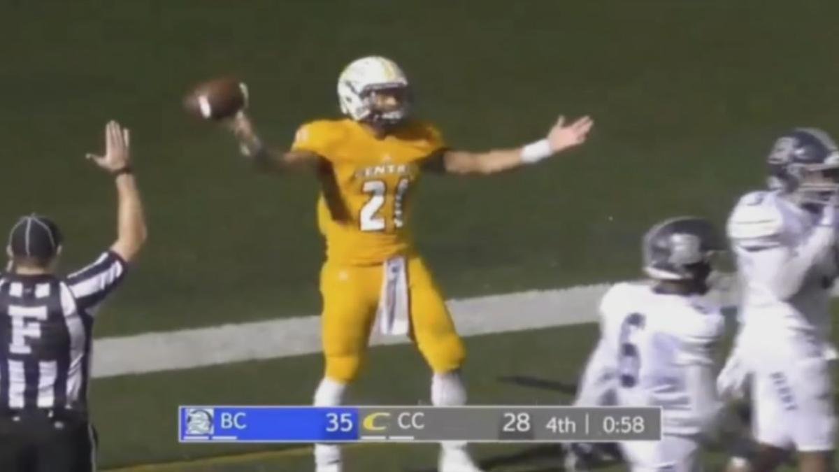 Jaylon Hibbs celebrates a touchdown