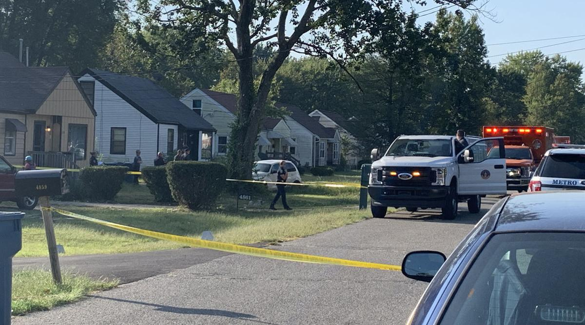 Scene where a child was fatally attacked by dogs in the 4800 block of Brenda Drive, on Oct. 1, 2019
