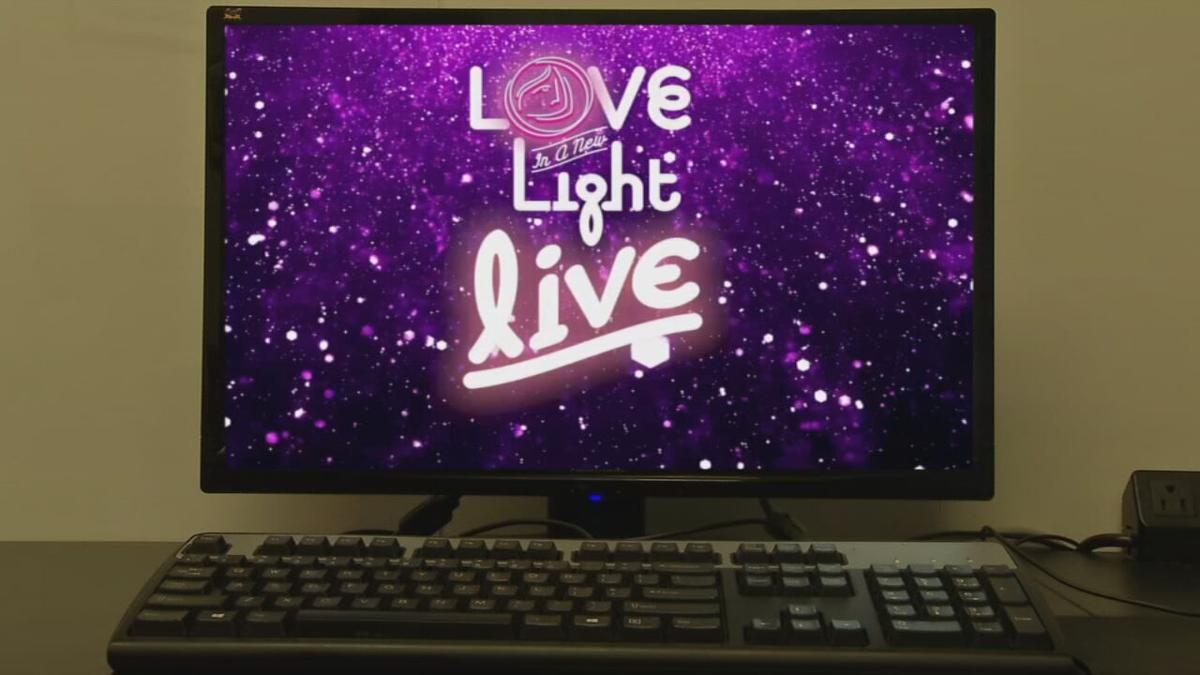Graphic for the Love in a New Light Virtual Concert