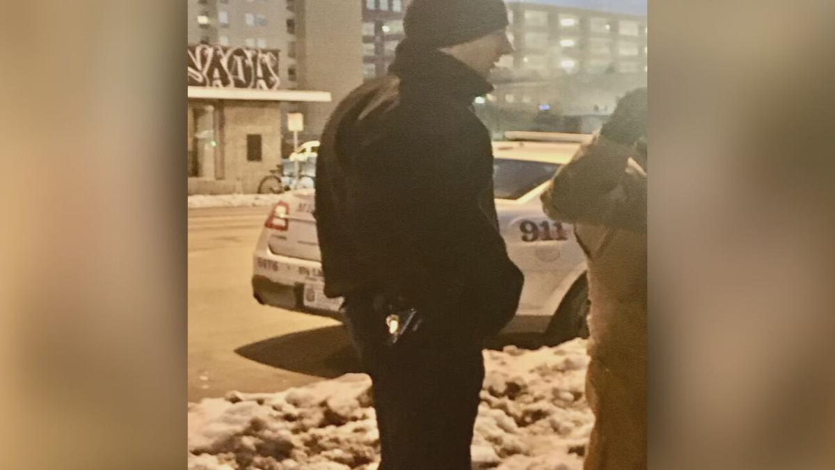 Louisville Metro Police officer outside EMW Women's Surgical Center