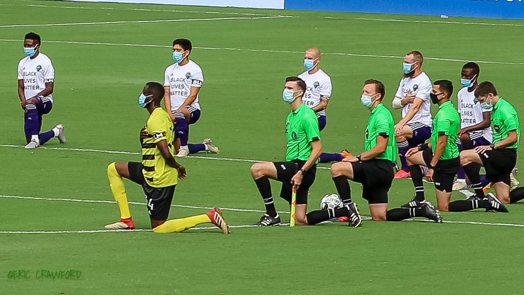 LouCity FC anthem kneeling