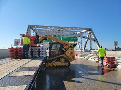 Work on the Kennedy Bridge