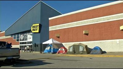 First Black Friday shoppers camping out outside Louisville stores