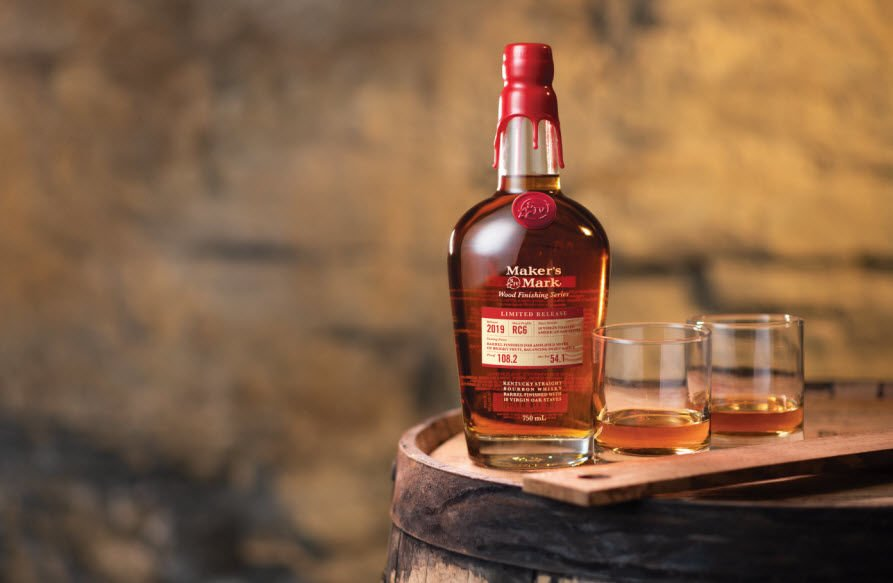 Makers Mark RC6 with 2 Glasses