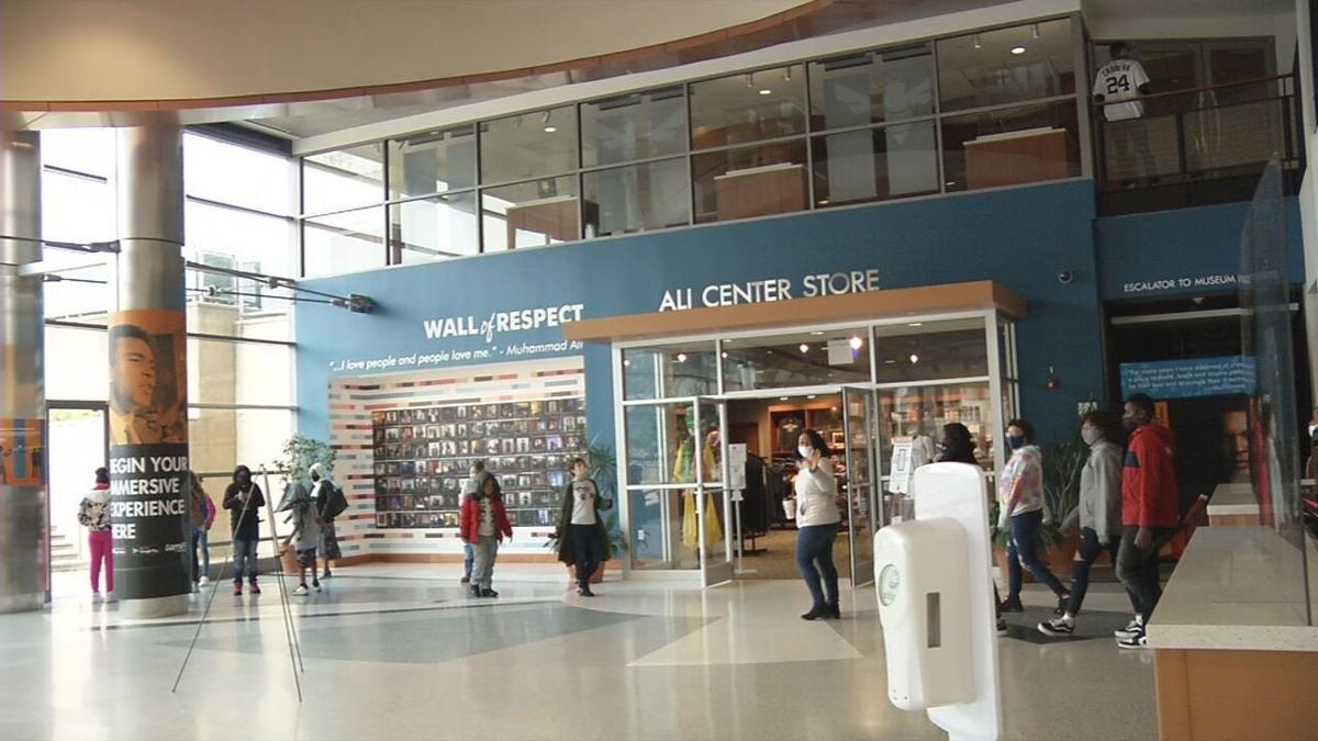 Masked guests at Muhammad Ali Center-Reopening day 4-1-21.jpeg