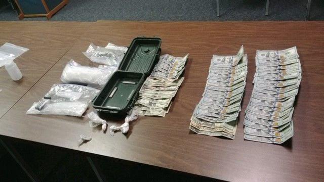 Methamphetamine and cash seizure ISP 2-12-19
