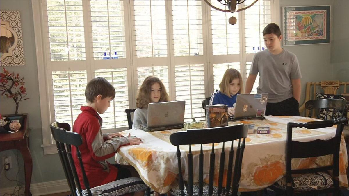 Retired principal, teacher help their grandchildren learn online