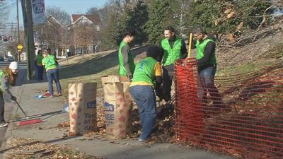 Local church volunteers help clean up city as part of national effort