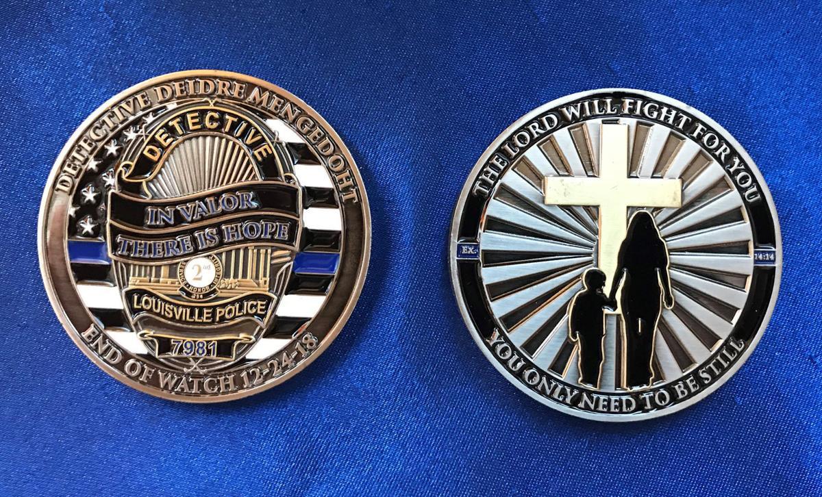 Coin created to honor LMPD Det. Deidre Mengedoht