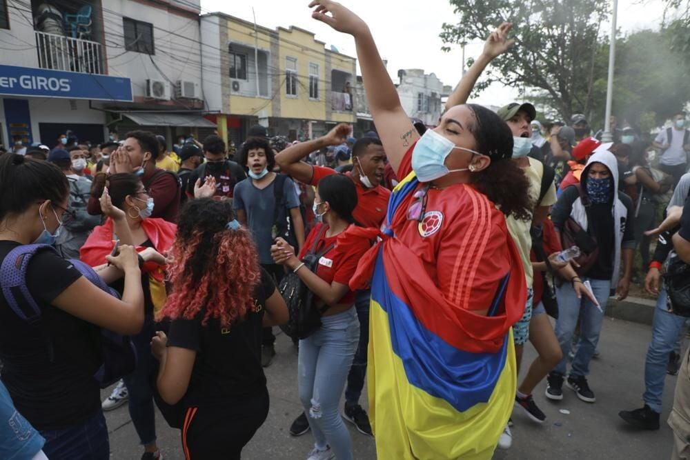 FIFA Protest in Columbia