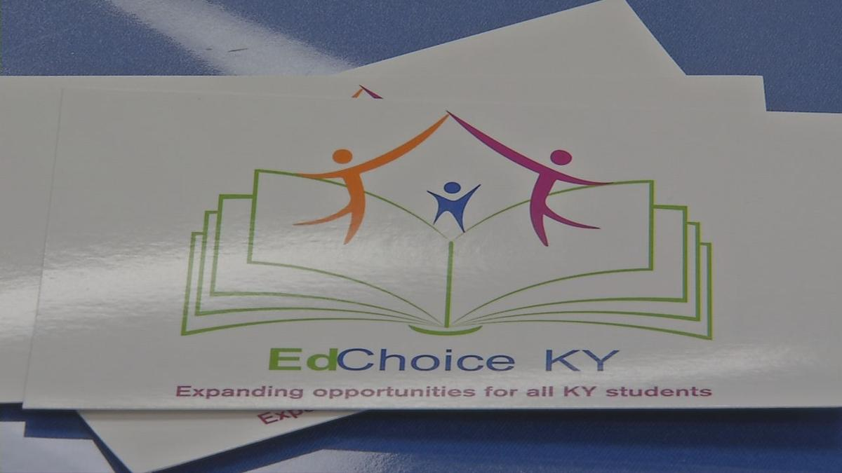 "Members of ""EdChoice Kentukcy"" rally in Frankfort for school choice (Jan. 14, 2020)"
