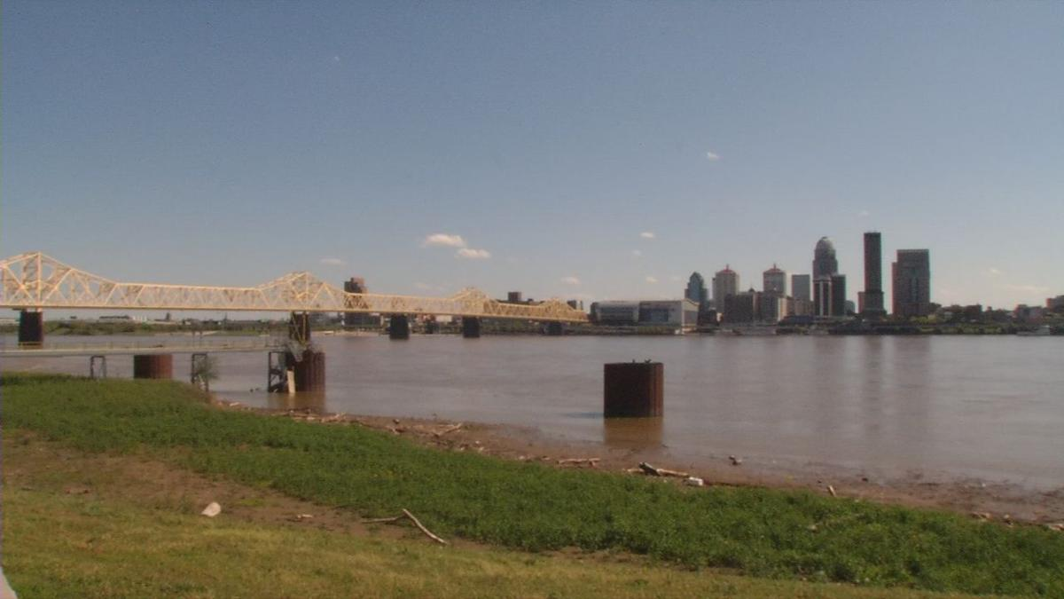 Louisville skyline generic from the Ohio River