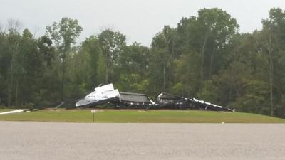 Oldham County drive-in theater closes after high winds collapse large screen