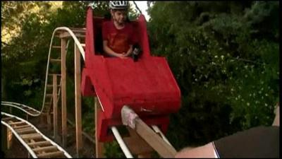 Calif. kid builds roller coaster in back yard
