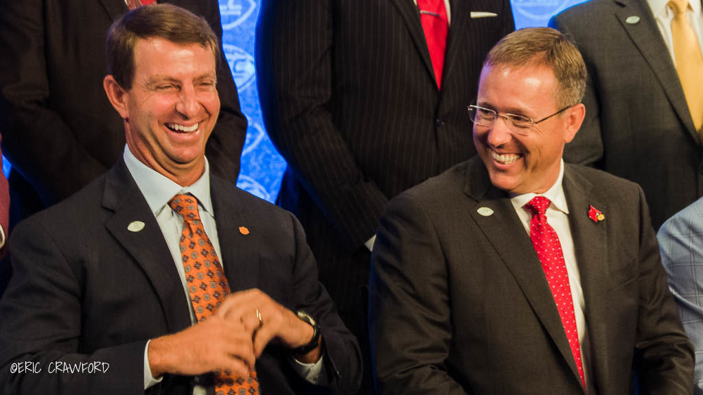 Scott Satterfield and Dabo Swinney