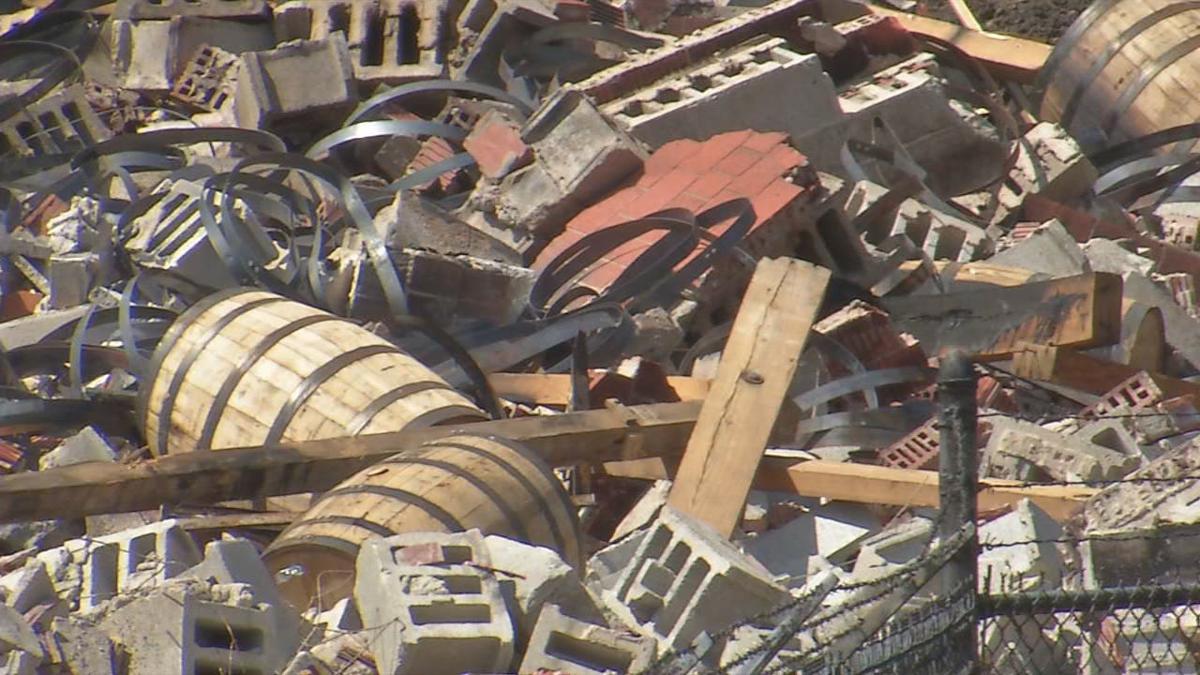 Jim Beam bourbon warehouse fire aftermath (June 5, 2019)