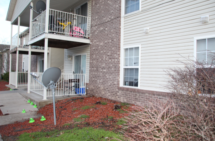 Exterior of Breonna Taylor's apartment