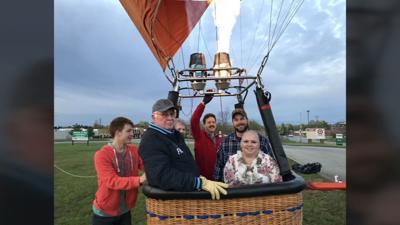 Tina Lanham hot air balloon ride