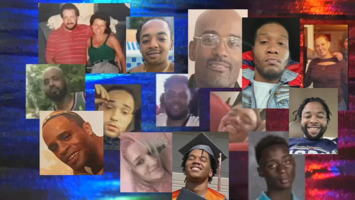 Images of some of the people who died by homicide in January 2021