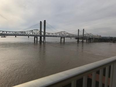 Lincoln and Kennedy bridges in downtown Louisville