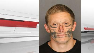 264bb087d25b3 Inmate with skull-face tattoo escapes California work crew | Crime ...