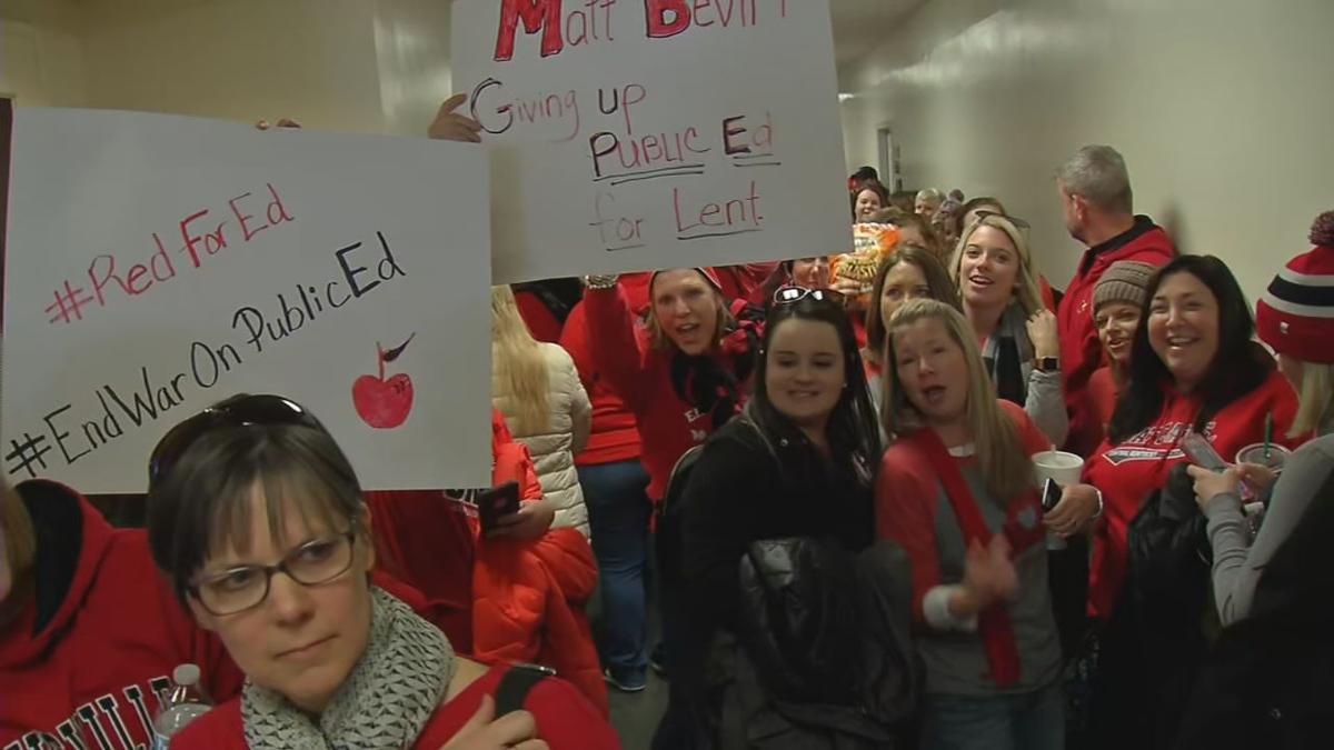 Kentucky Teacher protests