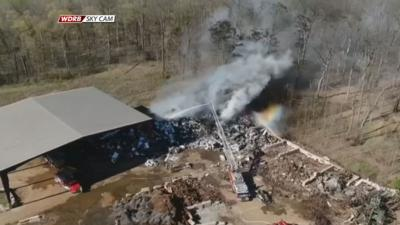 Smoke from scrap meal fire visible for miles in southern Indiana