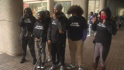 Protesters call for demonstrations to resume in downtown Louisville at Oct. 29, 2020 news conference