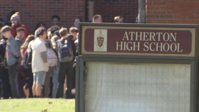 Atherton High School students participate in National School Walkout
