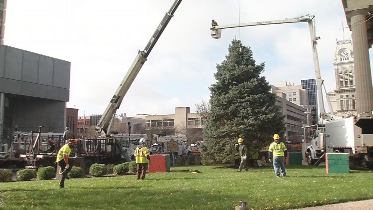 Louisville's 2020 Christmas 2020 set up downtown