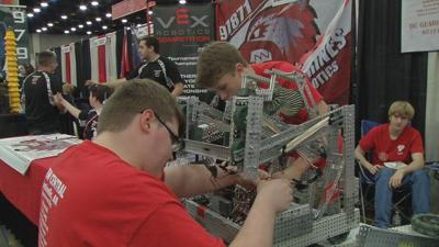Students from all over the world converge on Louisville for world's largest robotics competition