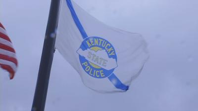 Kentucky State Police flag at training academy