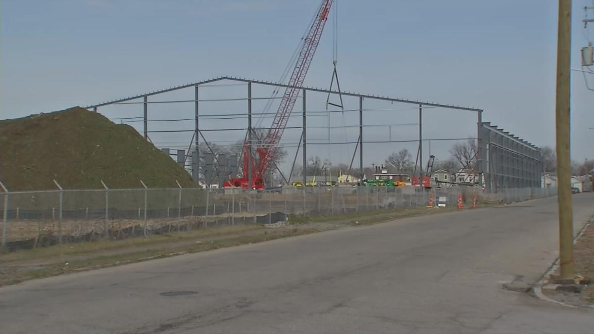 Construction on the new Sports and Learning Complex in west Louisville - Feb. 17, 2020