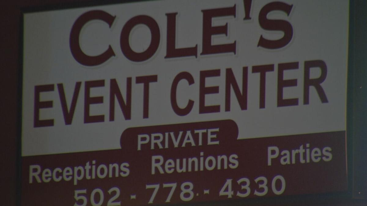 Cole's Event Center sign